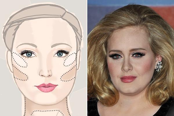 """""""Make up"""" cho khuôn mặt tròn thon gọn, cuốn hút 5"""