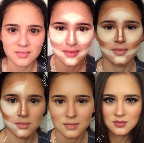Cách làm khuôn mặt thon gọn với make-up