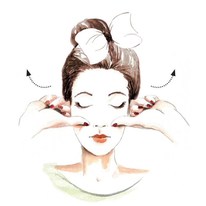 Cách massage làm căng, đầy gò má cực đơn giản