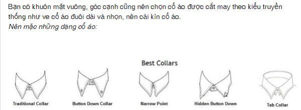 Lựa chọn kiểu áo cho người mặt vuông chữ điền