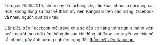 Sự thật về thẩm mỹ viện Kangnam