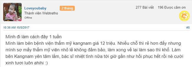 CHia sẻ của khách hàng sau phẫu thuật cười hở lợi tại Kangnam